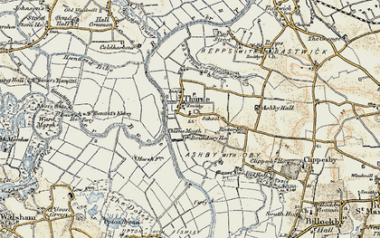 Old map of Thurne Mouth in 1901-1902