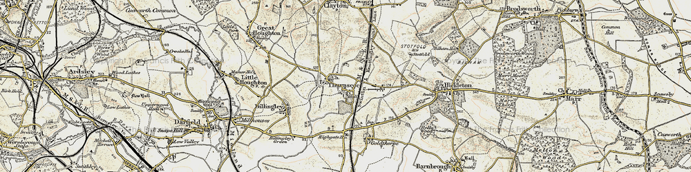 Old map of Thurnscoe in 1903
