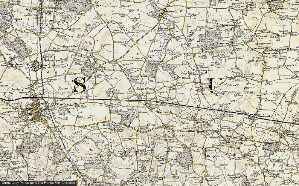 Old Map of Thurston, 1899-1901 in 1899-1901