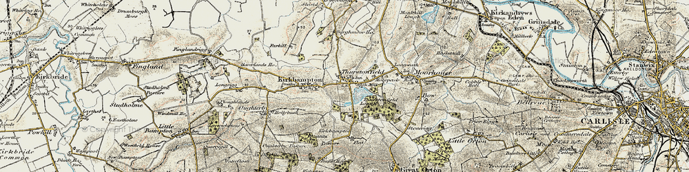 Old map of Woodlands in 1901-1904