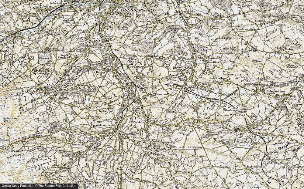 Old Map of Thurstonland, 1903 in 1903