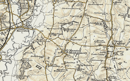 Old map of Thurvaston in 1902