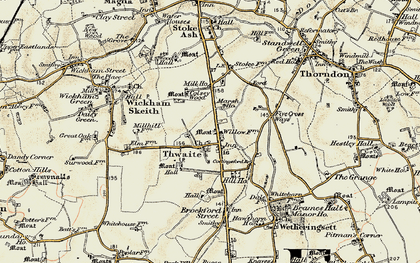 Old map of Thwaite in 1901