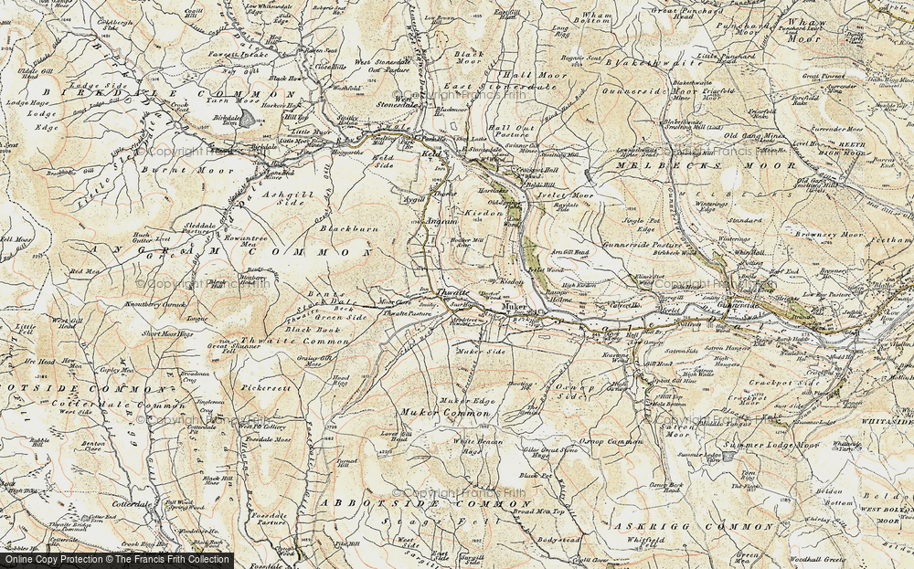 Old Map of Thwaite, 1903-1904 in 1903-1904