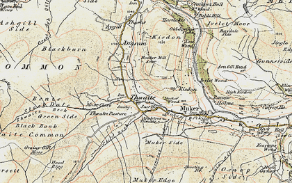 Old map of Thwaite Side in 1903-1904