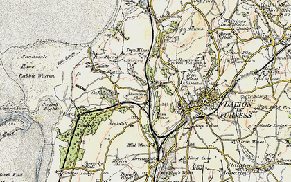 Old map of Thwaite Flat in 1903-1904