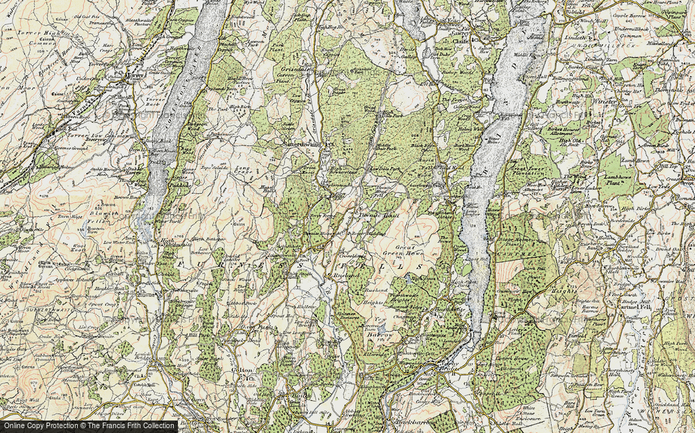 Old Map of Thwaite Head, 1903-1904 in 1903-1904