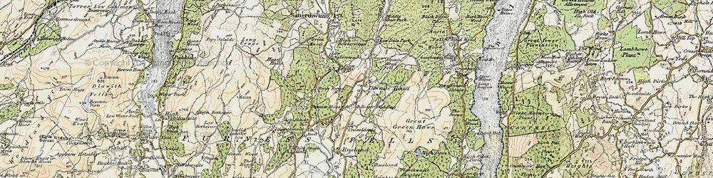 Old map of Thwaite Head in 1903-1904