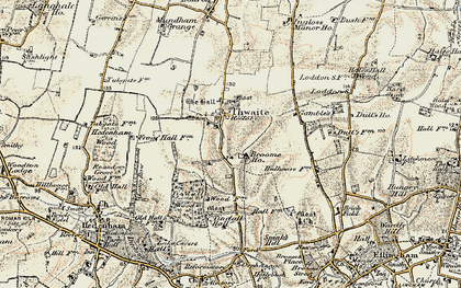 Old map of Tindall Hall in 1901-1902
