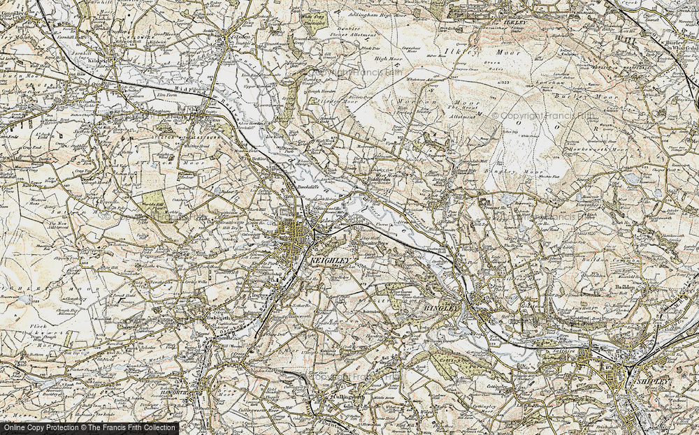 Old Map of Thwaites, 1903-1904 in 1903-1904