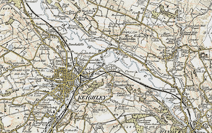 Old map of Thwaites in 1903-1904