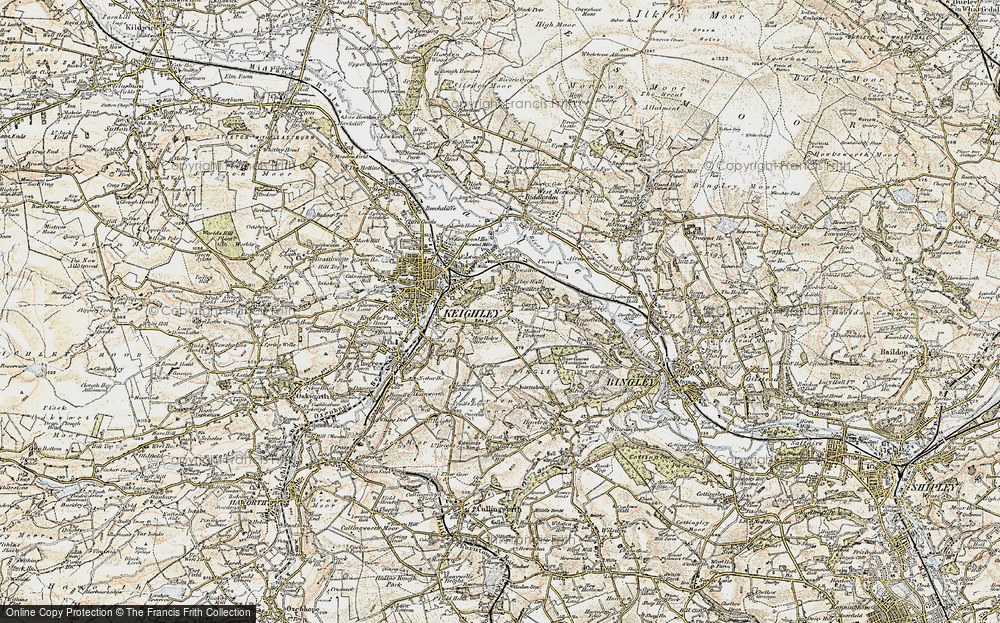 Old Map of Thwaites Brow, 1903-1904 in 1903-1904
