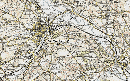Old map of Thwaites Brow in 1903-1904