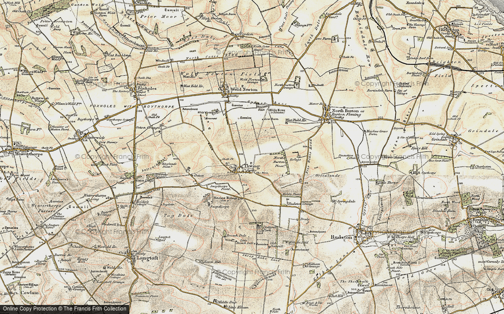 Old Map of Thwing, 1903-1904 in 1903-1904