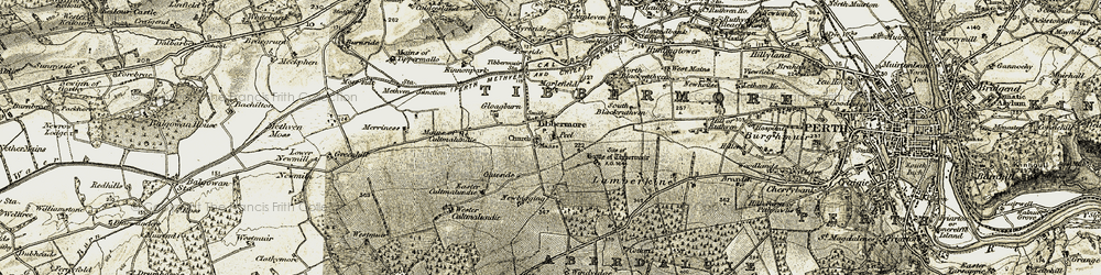 Old map of Wester Cultmalundie in 1906-1908