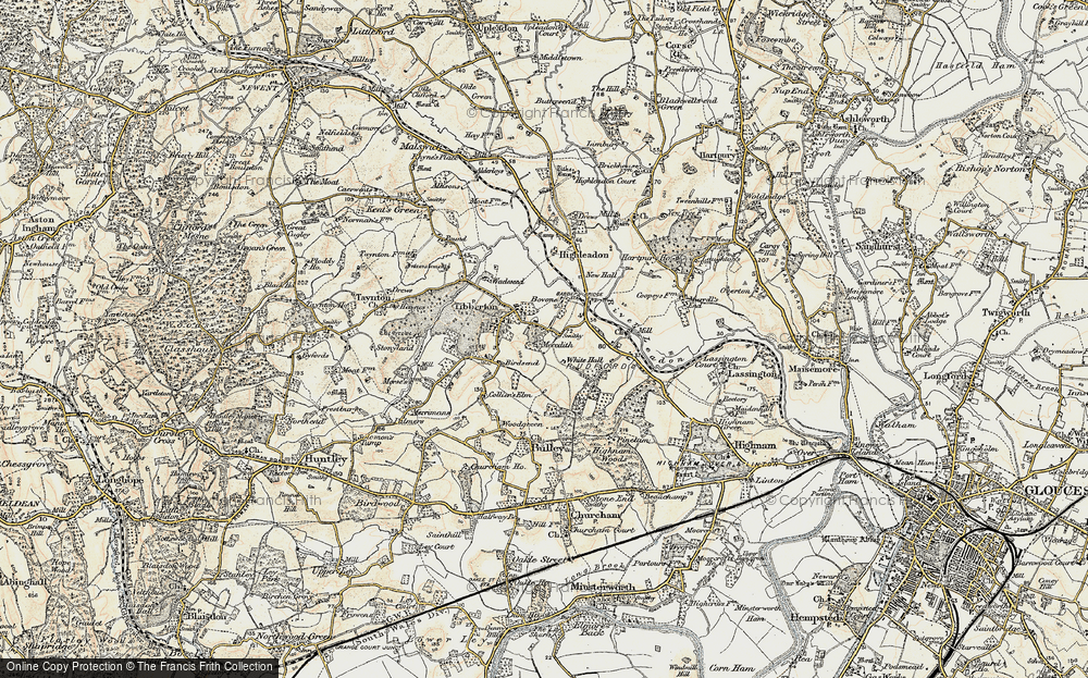 Old Map of Tibberton, 1898-1900 in 1898-1900