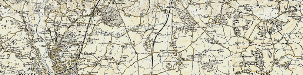 Old map of Tibberton in 1899-1902