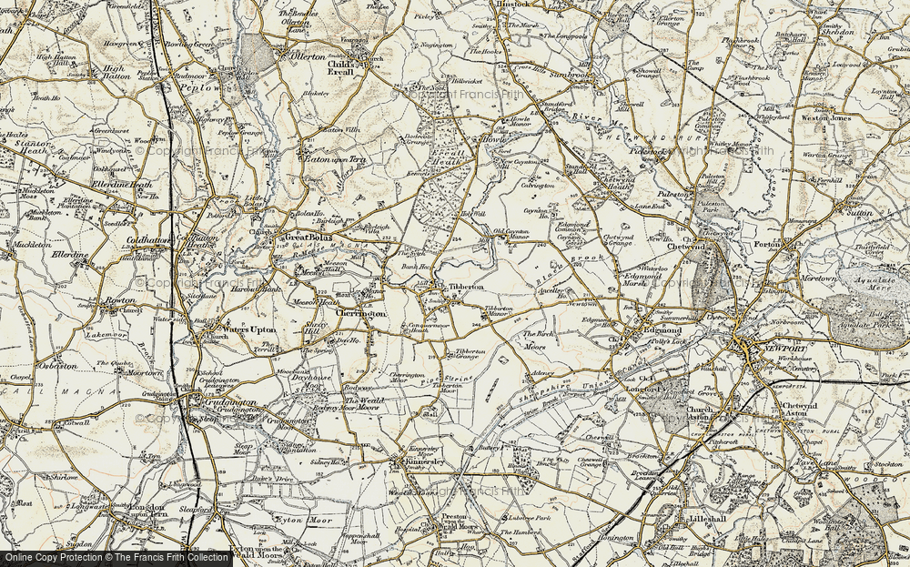 Old Map of Tibberton, 1902 in 1902