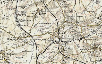 Old map of Westwood Brook in 1902-1903