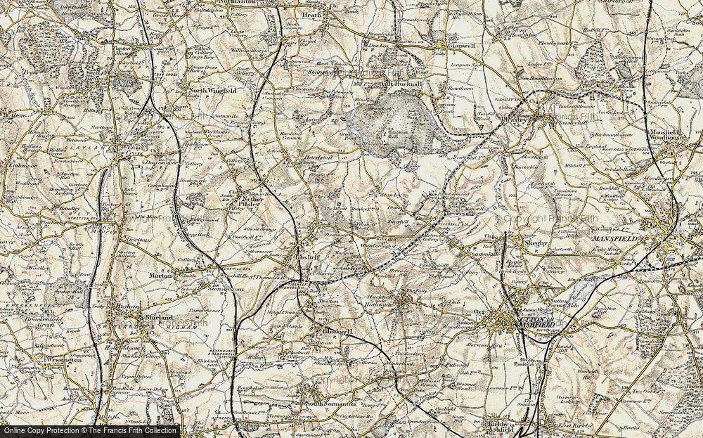 Old Map of Tibshelf Wharf, 1902-1903 in 1902-1903