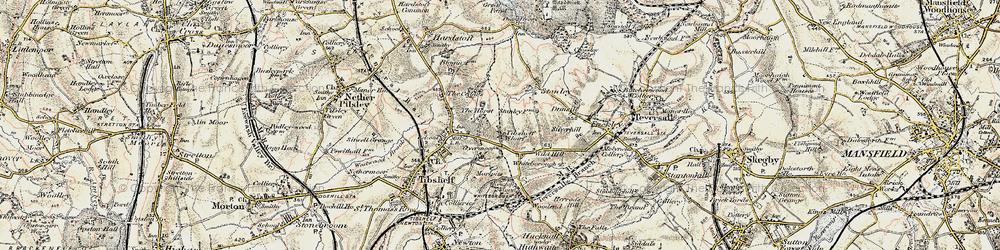 Old map of Tibshelf Wharf in 1902-1903