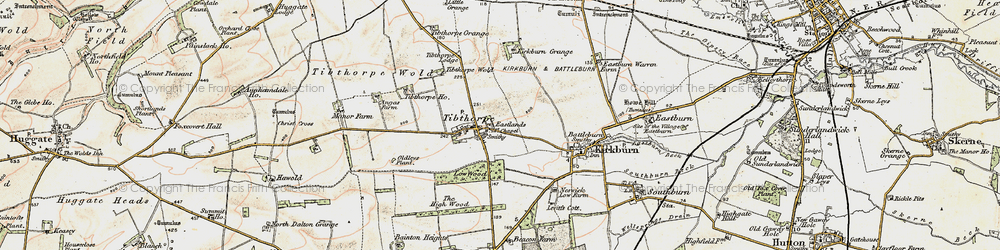 Old map of Tibthorpe Ho in 1903-1904