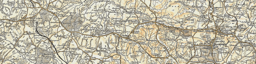 Old map of Ticehurst in 1898