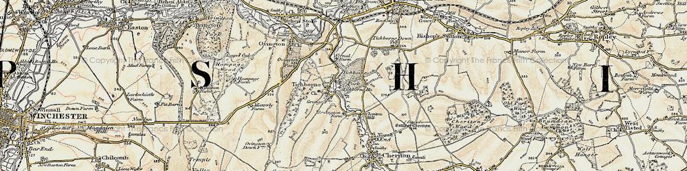 Old map of Tichborne Park in 1897-1900