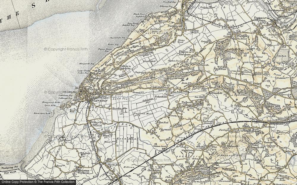 Old Map of Tickenham, 1899 in 1899