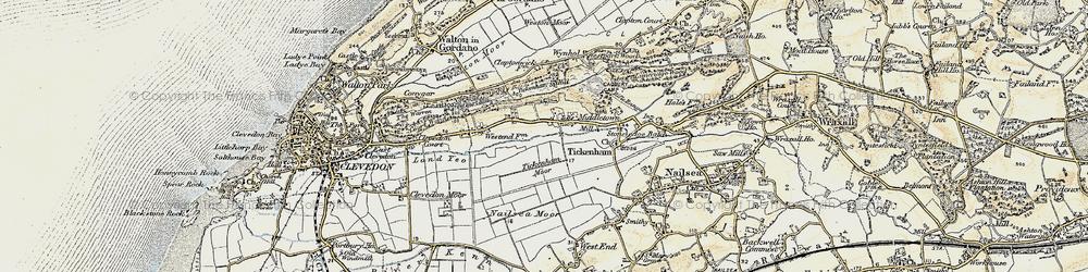 Old map of Tickenham in 1899