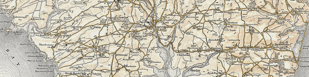 Old map of Ticket Wood in 1899