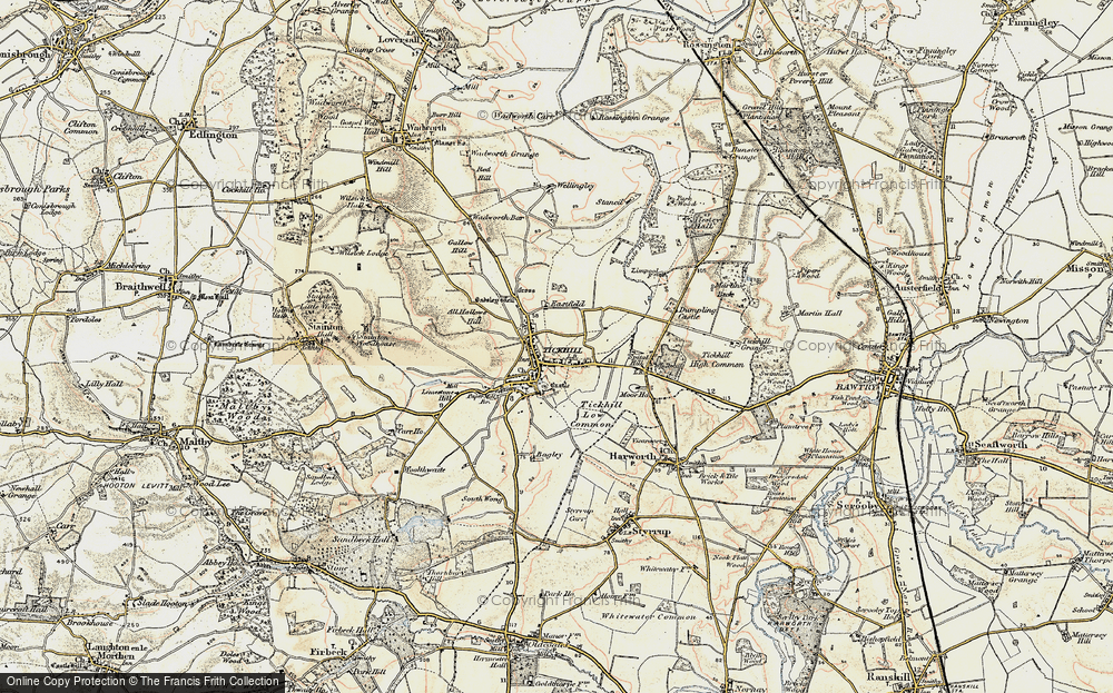 Old Map of Historic Map covering All Hallows Hill in 1903