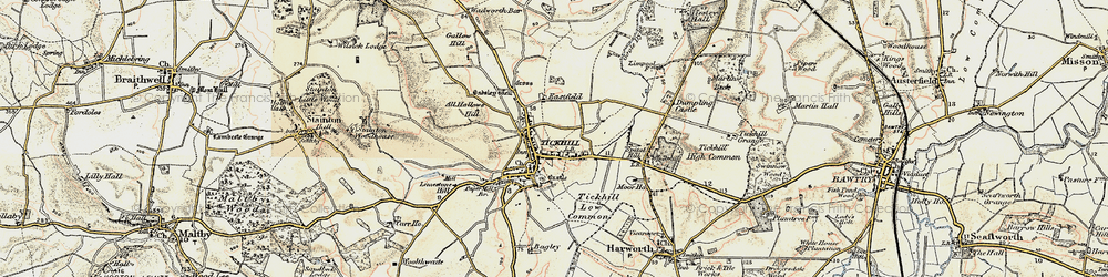 Old map of All Hallows Hill in 1903