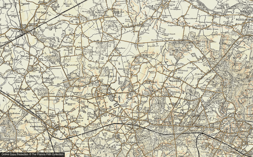 Old Map of Tickleback Row, 1897-1909 in 1897-1909