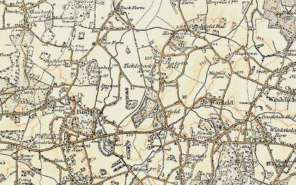 Old map of Tickleback Row in 1897-1909