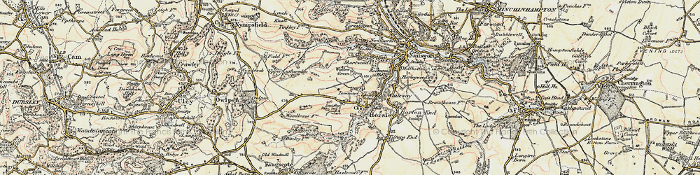 Old map of Tickmorend in 1898-1900