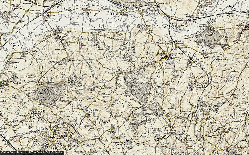 Old Map of Ticknall, 1902-1903 in 1902-1903