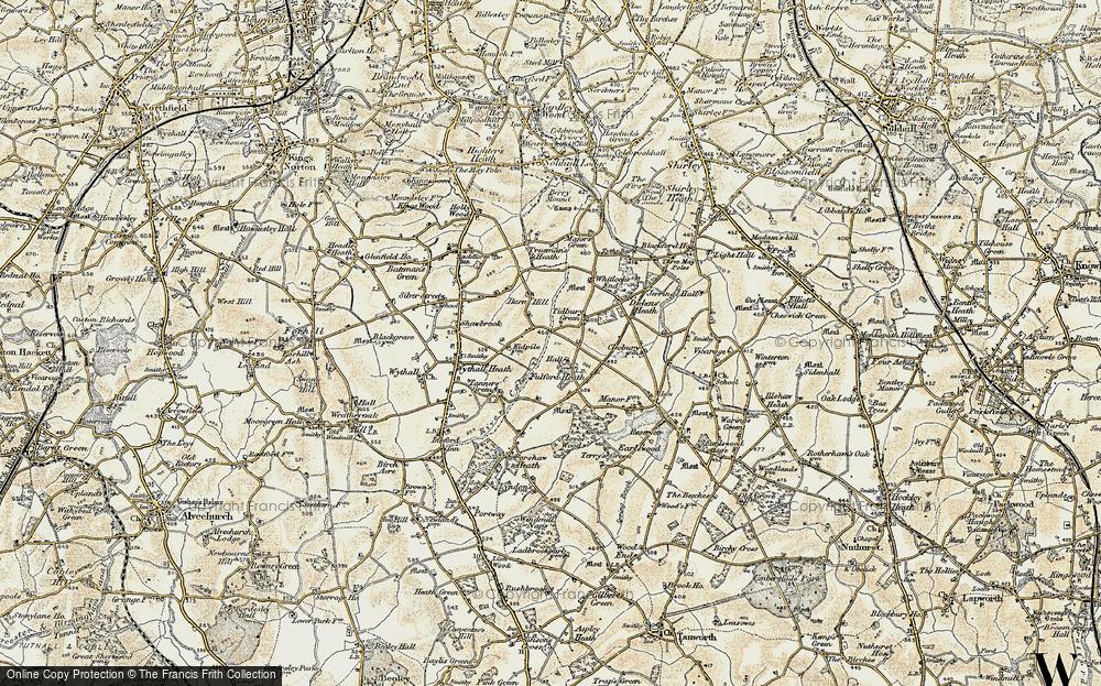 Old Map of Tidbury Green, 1901-1902 in 1901-1902
