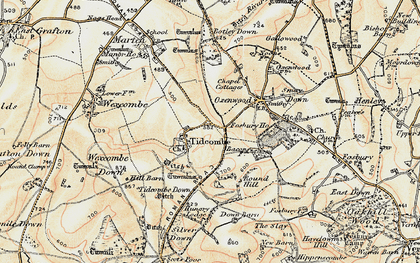 Old map of Tidcombe Down in 1897-1899
