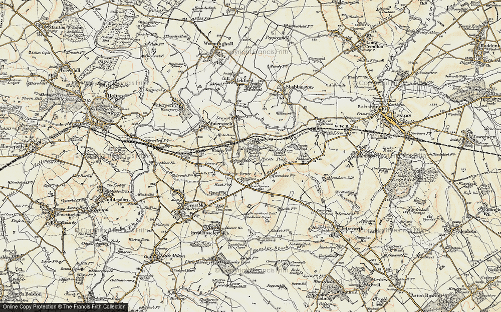 Old Map of Tiddington, 1897-1899 in 1897-1899