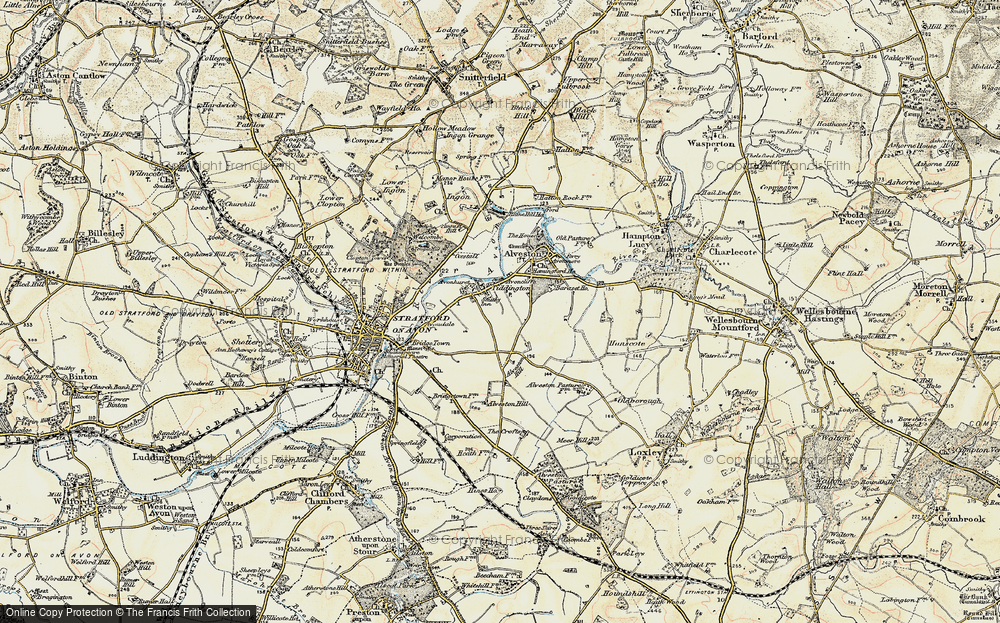 Old Map of Historic Map covering Baraset in 1899-1902