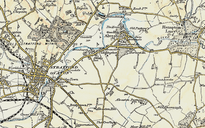 Old map of Baraset in 1899-1902