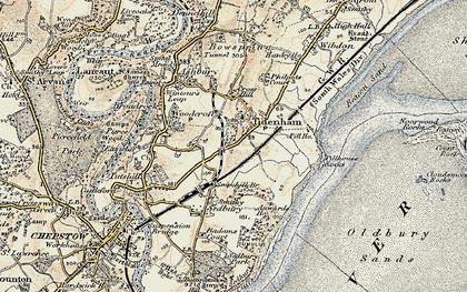 Old map of Tidenham in 1899-1900