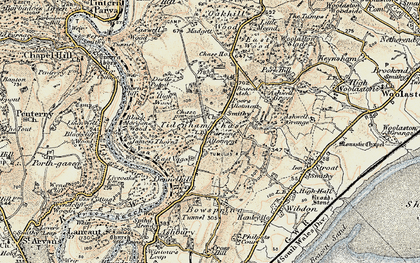 Old map of Tidenham Chase in 1899-1900