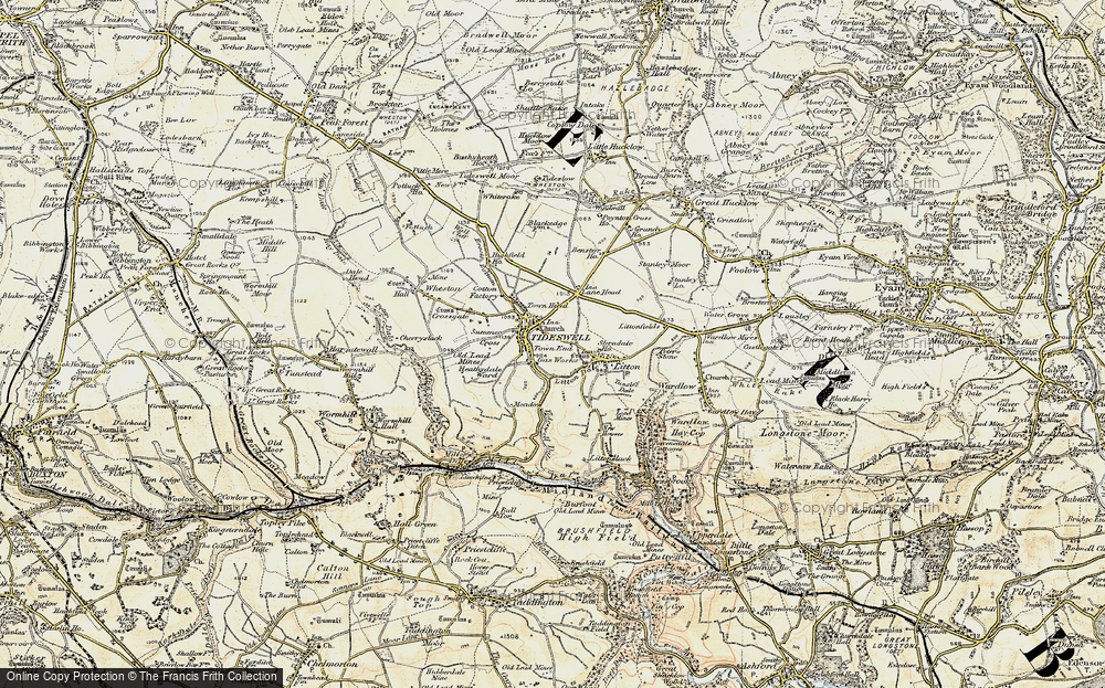 Old Map of Tideswell, 1902-1903 in 1902-1903