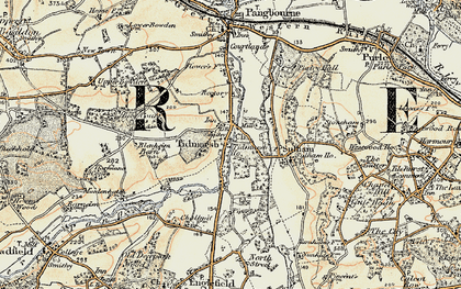 Old map of Tidmarsh in 1897-1900