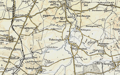 Old map of Tidmington in 1899-1901