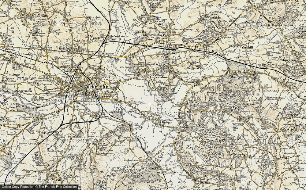 Old Map of Tidnor, 1899-1901 in 1899-1901