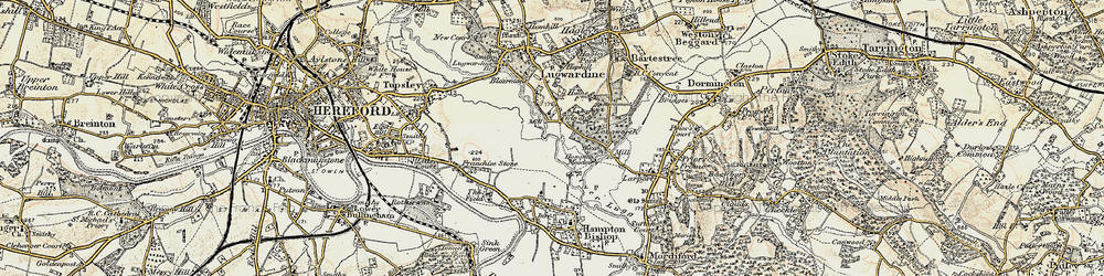 Old map of Tidnor in 1899-1901