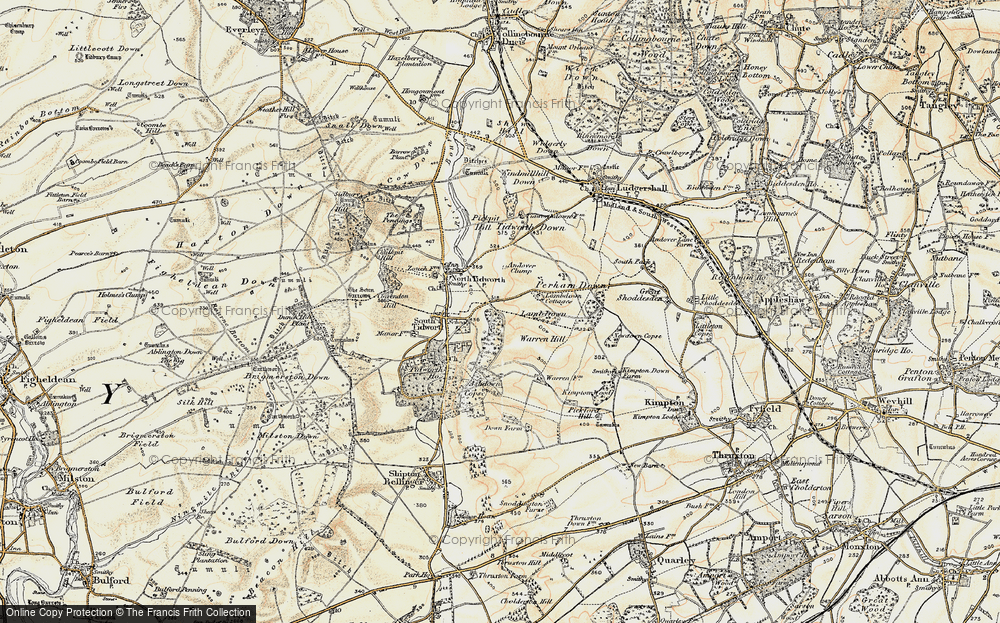 Old Map of Historic Map covering Ashdown Copse in 1897-1899